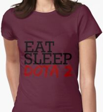 eat, sleep, dota 2 Womens Fitted T-Shirt