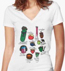 Vegelock Women's Fitted V-Neck T-Shirt