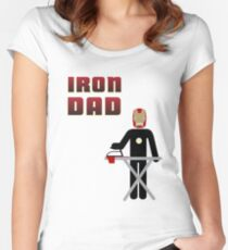 Iron Dad ironing Women's Fitted Scoop T-Shirt