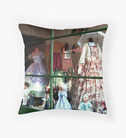 Right Shop Window, A Civil Affair Throw Pillow