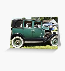 Green 1930 Chevy Greeting Card