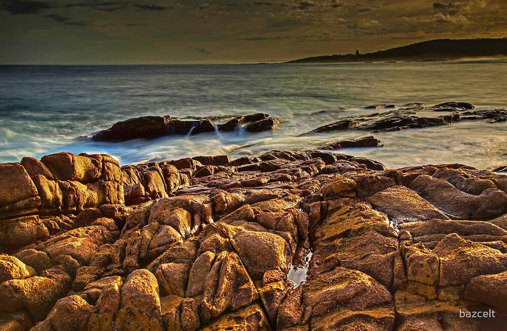 Last Light on Rocks by bazcelt
