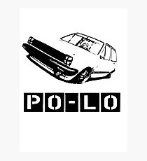 Lo VW Polo vector T-Shirt Photographic Print
