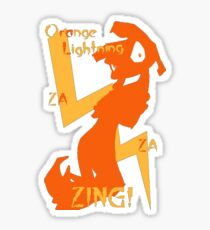 Orange Lightning Sticker