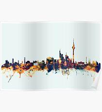 Berlin Deutschland Skyline Poster