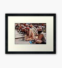 Beggars At Badrinath Shrine Framed Print
