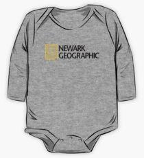 'Newark Geographic' (b) One Piece - Long Sleeve