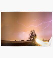 North Boulder County Colorado Lightning Strike Poster