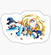 Sorceress Lux & her Poros Sticker