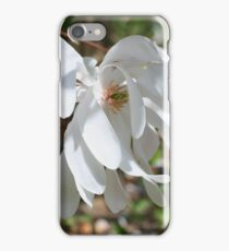 White Magnolia Flower Blossom iPhone Case/Skin
