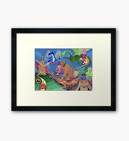 Wizards and Dragons Framed Print