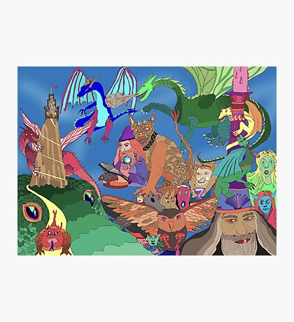 Wizards and Dragons Photographic Print