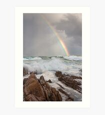 Rainbow over Yabarra Beach Art Print