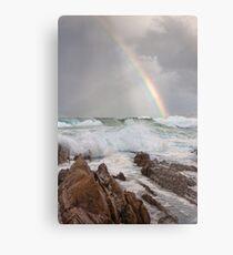 Rainbow over Yabarra Beach Metal Print