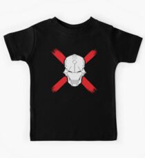 Cyborg Skull w/ Red X Kids Clothes