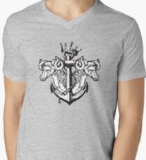 Goats on an Anchor Mens V-Neck T-Shirt