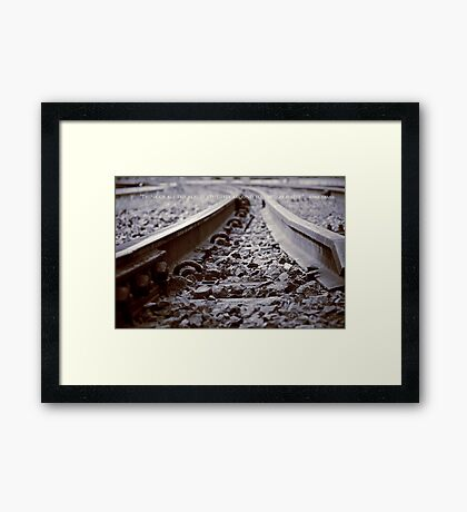 """""""Think of all the beauty still left around you and be happy."""" ~Anne Frank. Framed Print"""