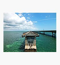 Old Seven Mile Bridge, FL Photographic Print