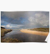 Rainbow over Yabarra Beach Poster