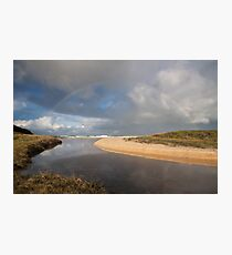 Rainbow over Yabarra Beach Photographic Print