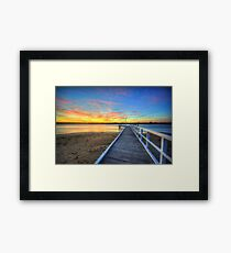 Barwon Heads Pier Sunrise Framed Print