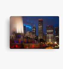 2013 Chicago Blackhawks Skyline Canvas Print