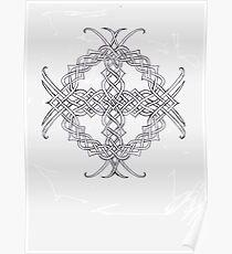 Knotwork Celtic Cross Poster