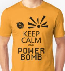 Keep Calm and Power Bomb - Light Colours Unisex T-Shirt