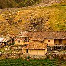 Farm on a Hill, Ingapirca, Ecuador by Paul Wolf
