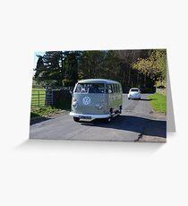 Split Screen Camper Van Greeting Card