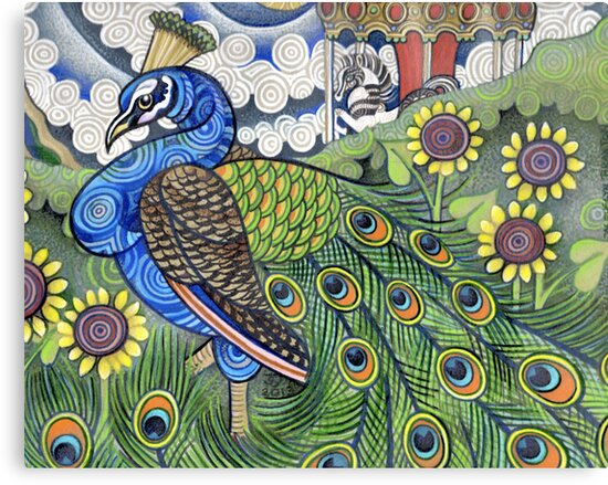 Stained Glass Peacock by Jacquelyn Braxton