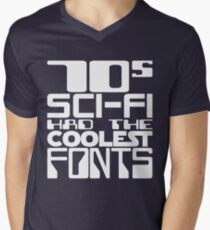 70s Sci-Fi Had The Coolest Fonts Mens V-Neck T-Shirt
