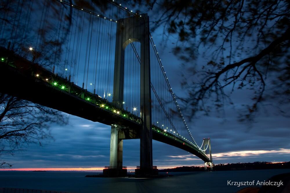 Verrazano Bridge by Krzysztof Aniolczyk