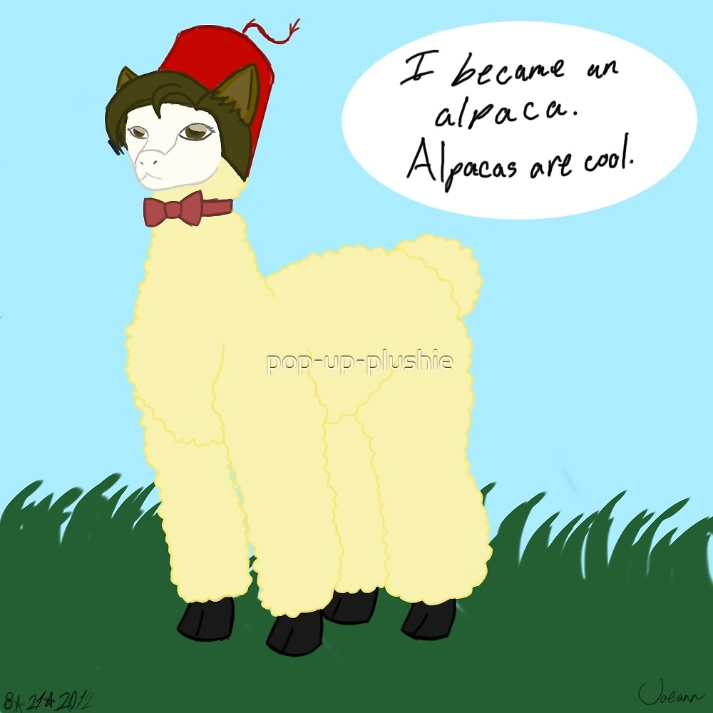 Alpacas Are Cool by pop-up-plushie