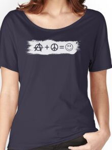 Ⓐ+☮=☺ Women's Relaxed Fit T-Shirt