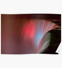 Silky Falls of Pink Poster