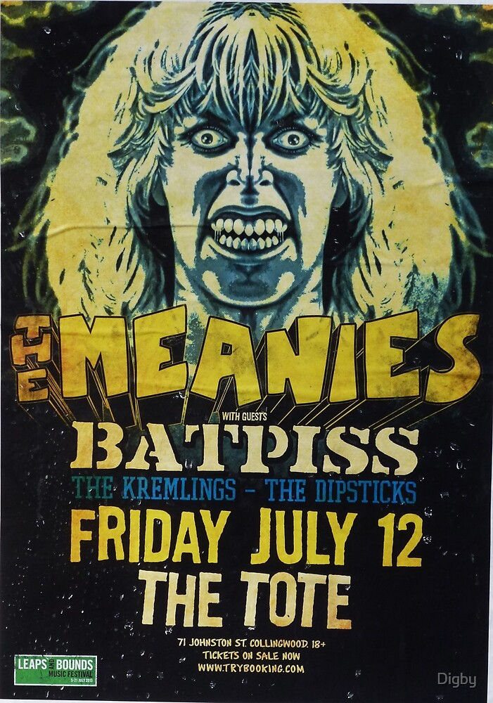 The Meanies and Batpiss by Digby