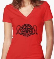 Crimson Typhoon Women's Fitted V-Neck T-Shirt