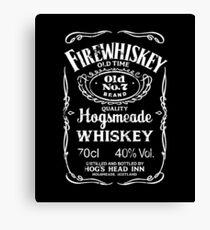 Hogsmeade's Old No.7 Brand Firewhiskey Canvas Print