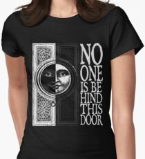 House of No One (White) Women's Fitted T-Shirt