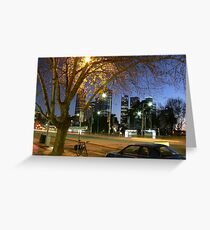 St Kilda Rd, Melbourne Greeting Card
