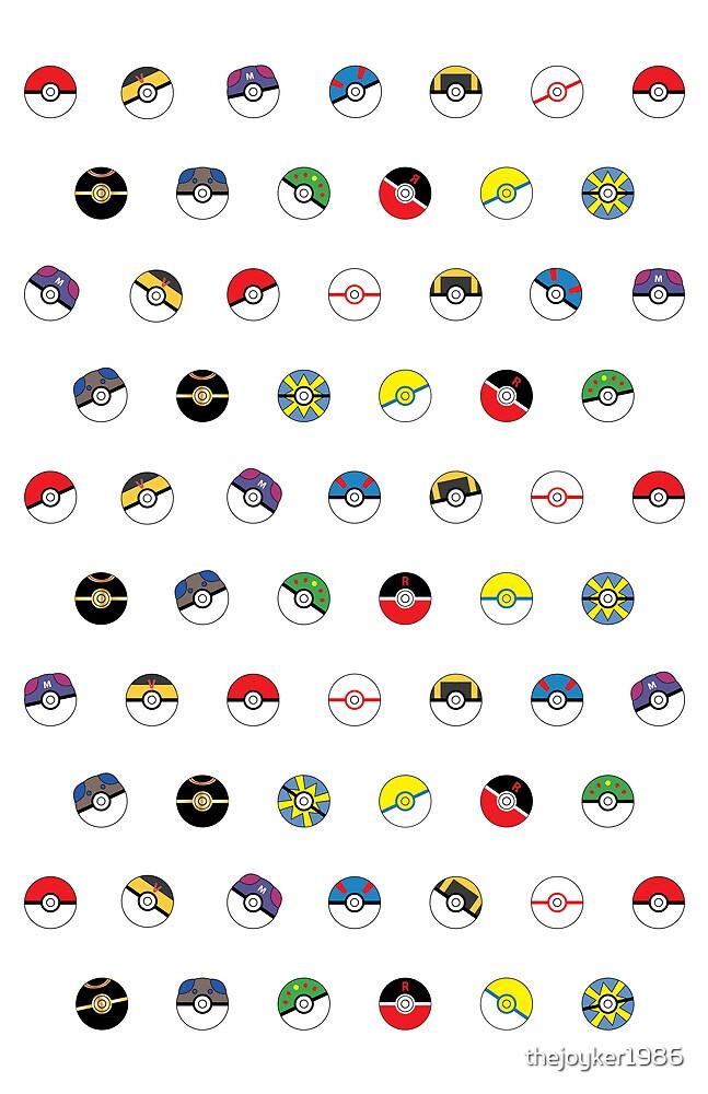 Cute Pokeball Pattern by thejoyker1986