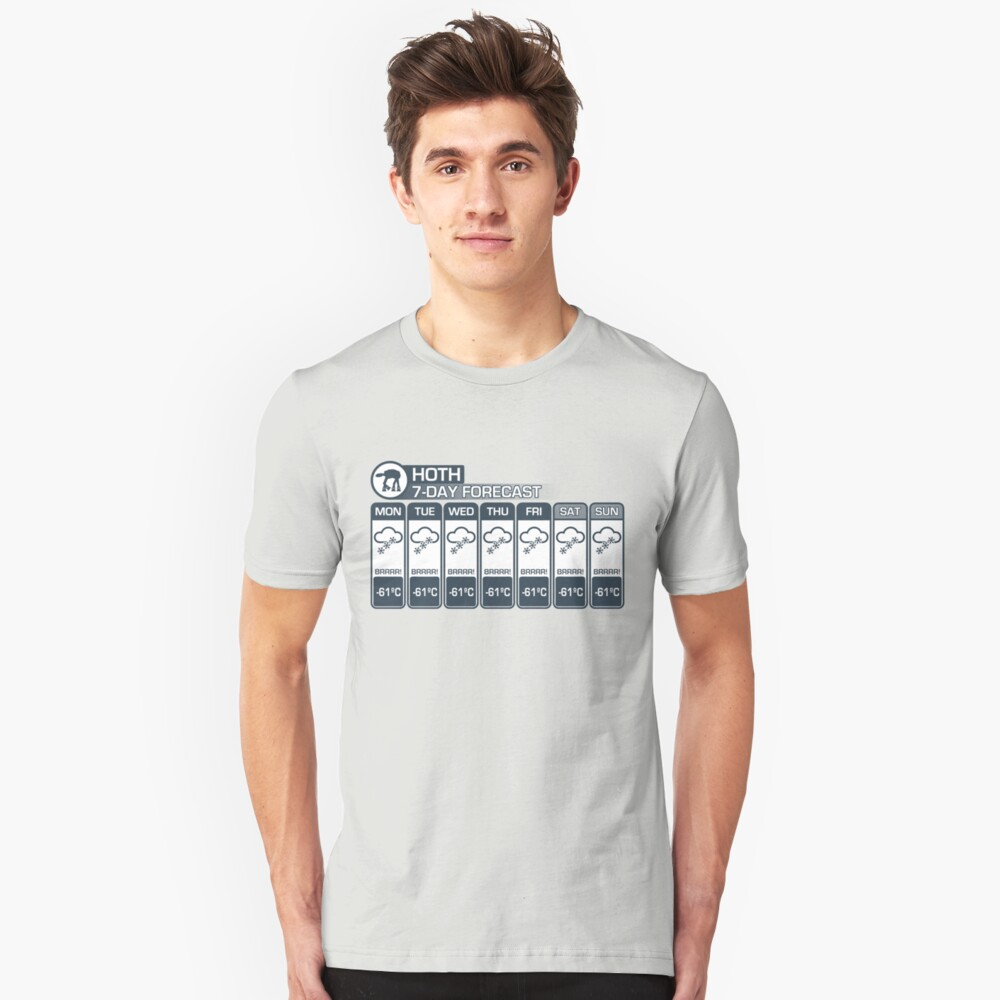 Hoth - 7 Day Forecast Unisex T-Shirt Front