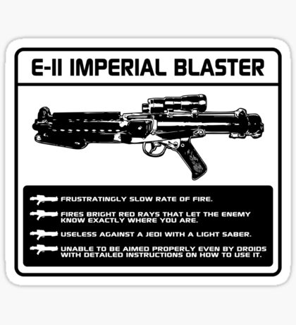 E-11 Imperial Blaster Sticker