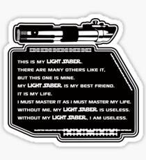 Lightsaber Sticker