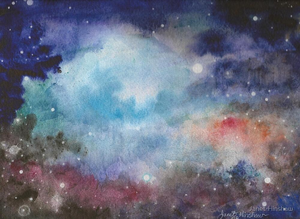 Cerulean Space Clouds 2008 by Janet-Hinshaw