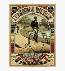 Vintage poster - Columbia Bicycle Photographic Print