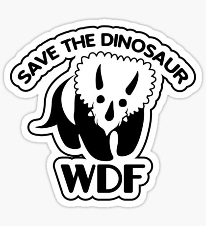 Save The Dinosaur Sticker