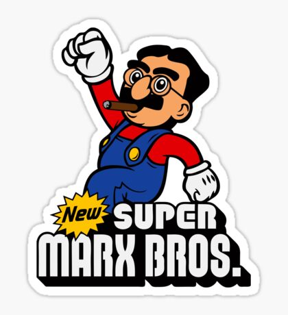 Super Marx Bros. Sticker
