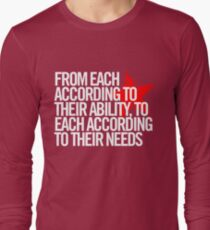 From each according to their ability... Long Sleeve T-Shirt